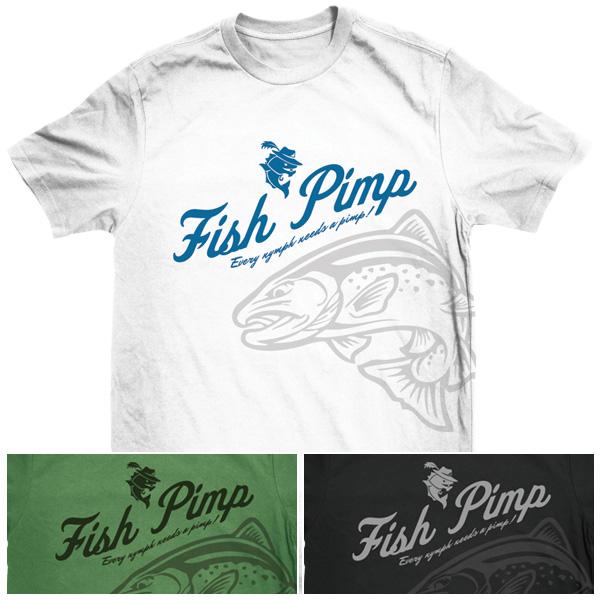 Fish Pimp Retro T-Shirt