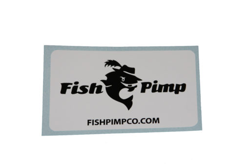 Sticker with out FishPimp slogan